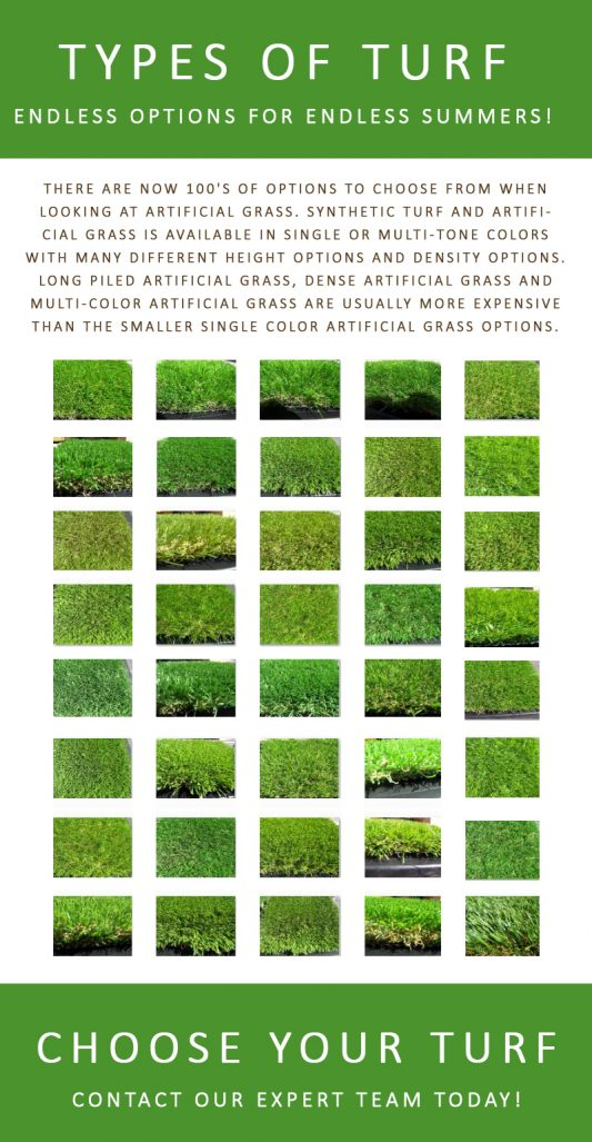 Different Types of Artificial Grass, Grass and Turf Options