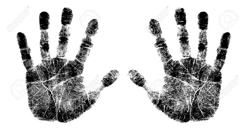 Left And Right Hand Print Royalty Free Cliparts, Vectors, And