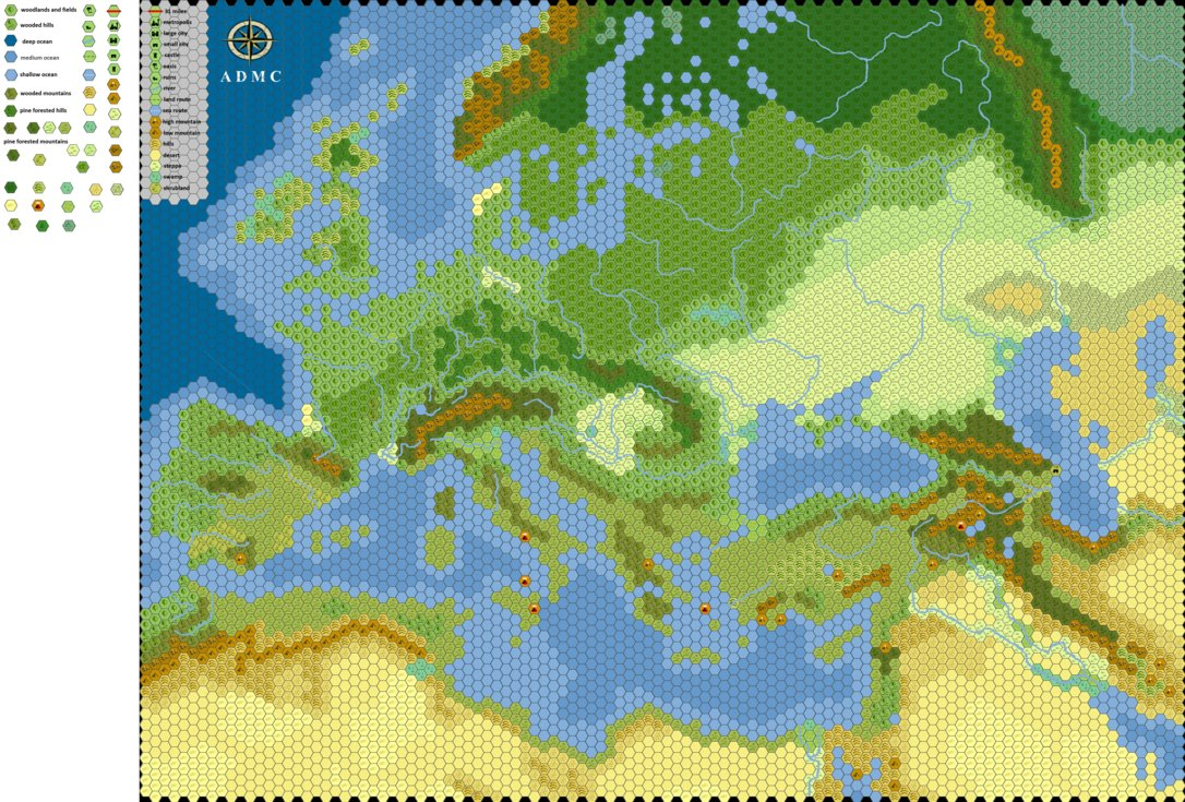 Europe 1100 AD Hex Map by Thomasbowman255 on DeviantArt