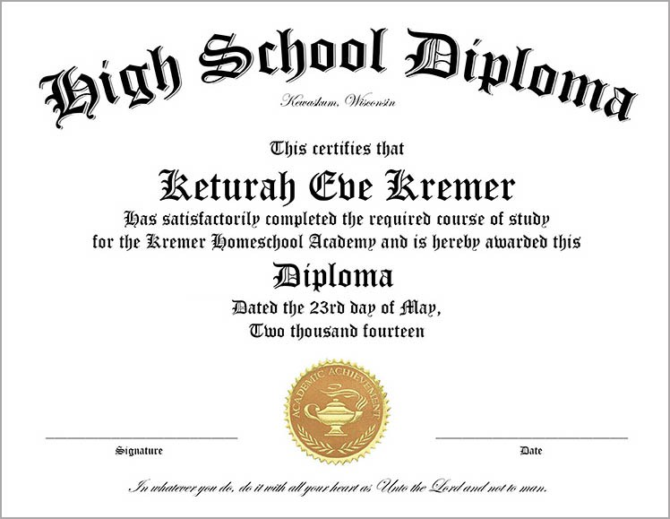 50+ FREE High School Diploma Template Printable Certificates!!