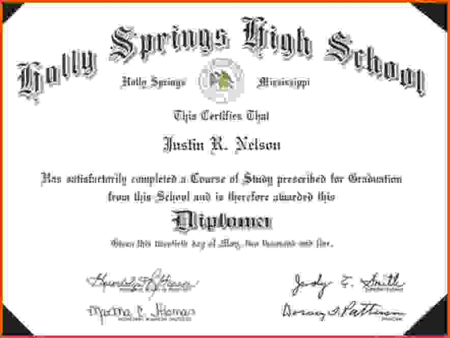 high school certificate template high school graduation