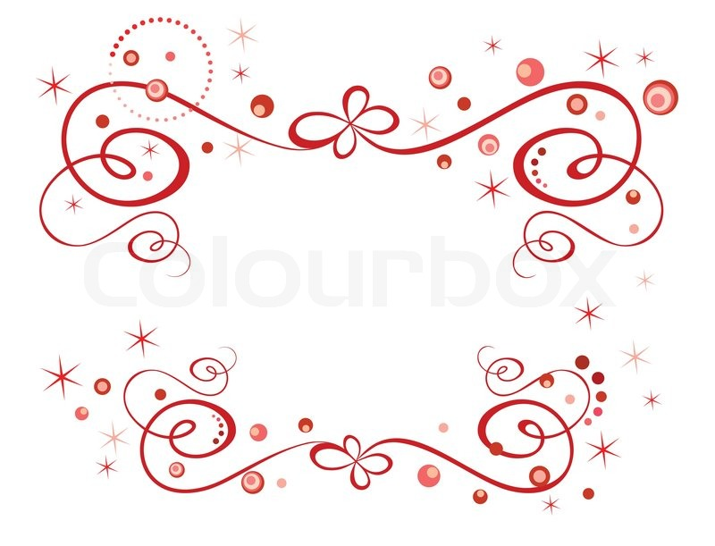 Red holiday border | Stock Vector | Colourbox