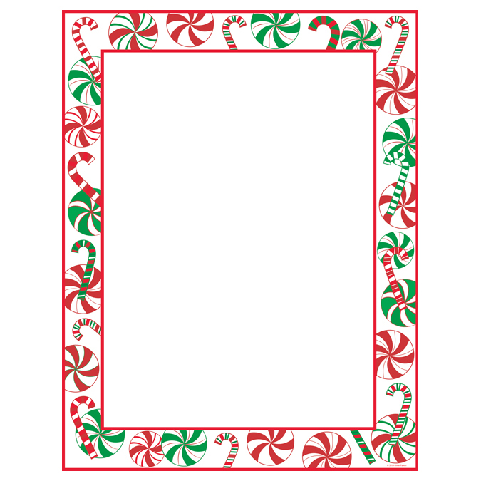 Peppermint Party Christmas Border Holiday Paper Your Paper Stop