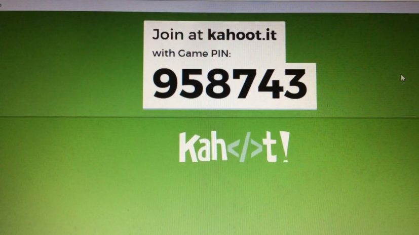 Kahoot it game pin let's do this type this in and then create a