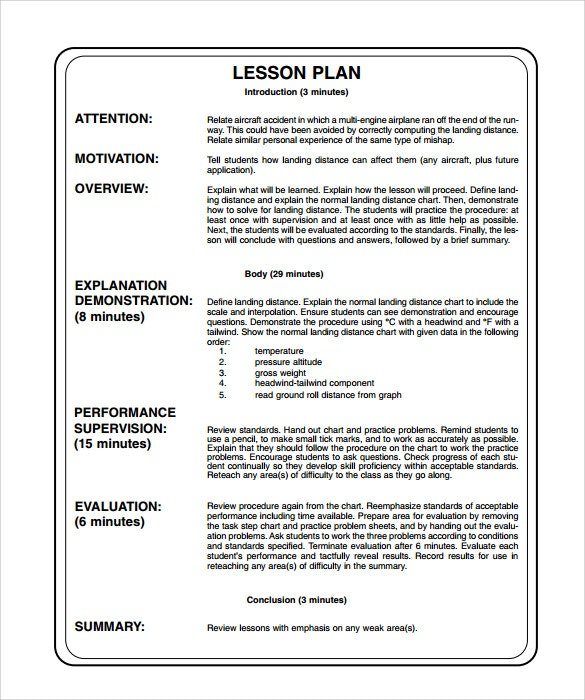 Example Lesson Plan Unit Lesson Plan Template Sample Printable