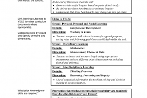 lesson plan examples example of lesson plan