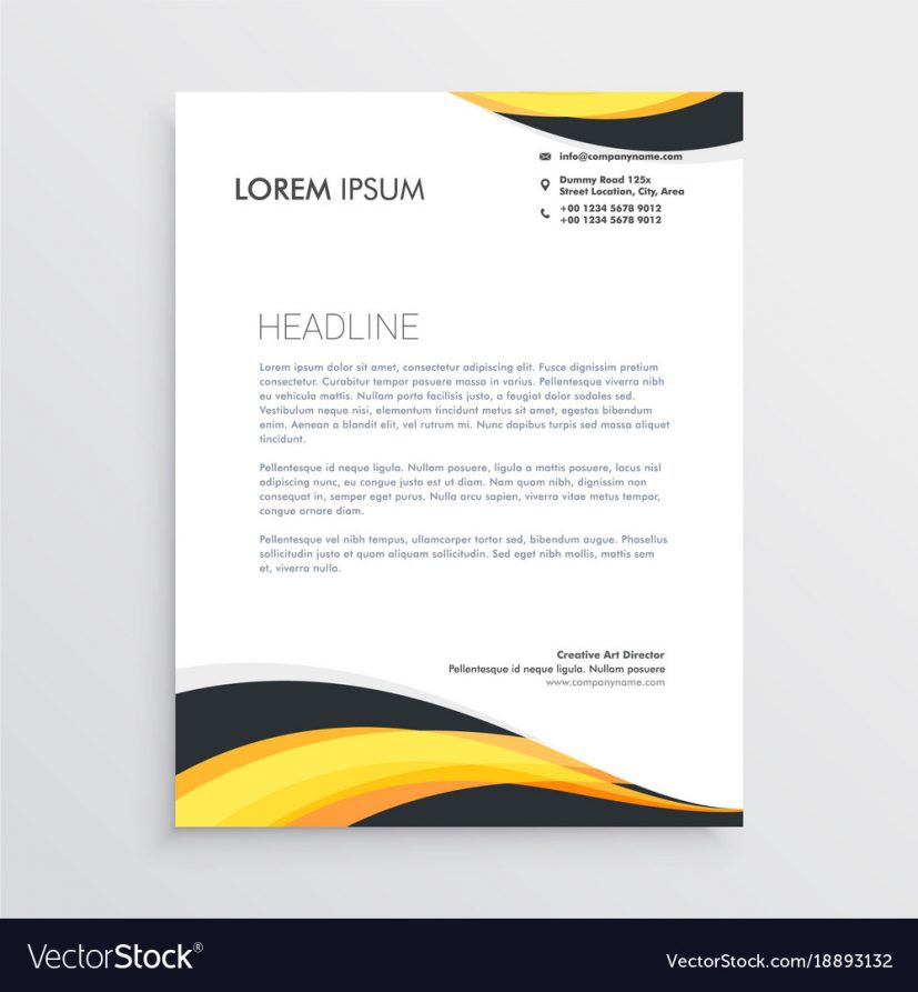 Corporate Letterhead Design EPS Free Download Wisxi.com