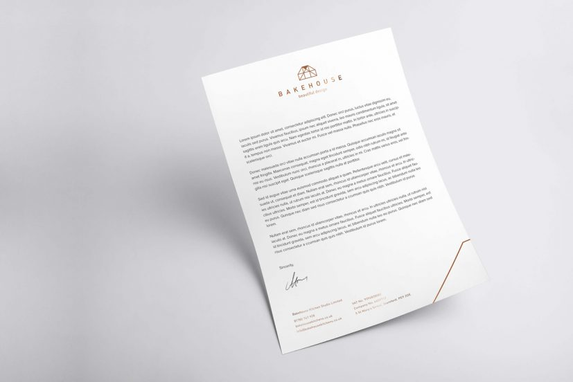 Abstract Geometric Letterhead Design Free download Wisxi.com