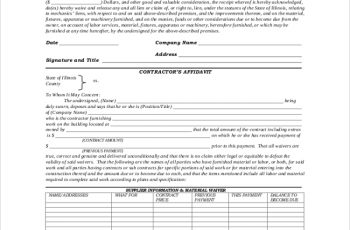 lien waiver form construction lien waiver form