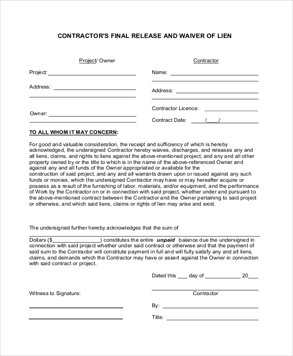 Partial Waiver Of Lien Form Ny Fill Online, Printable, Fillable