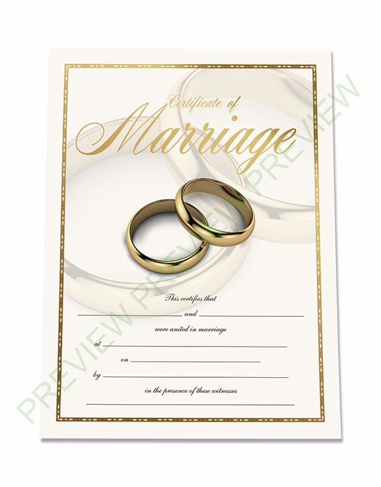 Exclusive Marriage Certificate Get Ordained