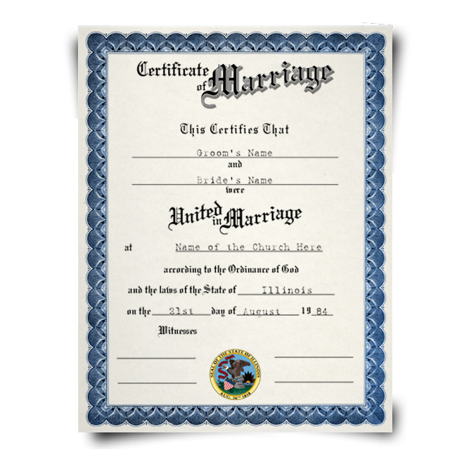 Fake Marriage Certificate | DiplomaCompany.com