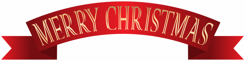 Merry Christmas Banner Transparent PNG Clip Art​ | Gallery
