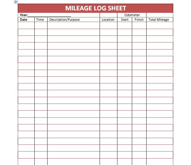 mileage log template for taxes Kleo.beachfix.co