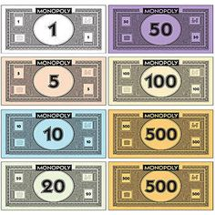 Where to print your own Monopoly money | Printables | Pinterest