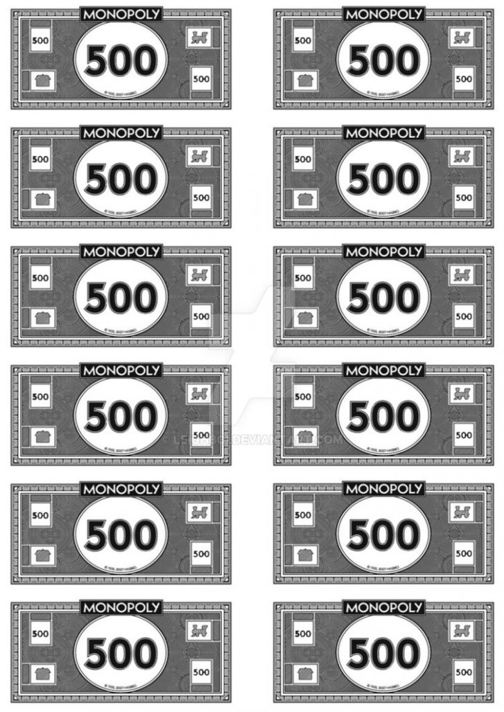 Monopoly Money 500's by Leighboi on DeviantArt