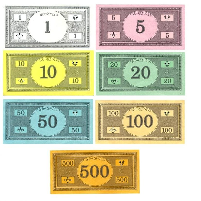 picture relating to Printable Monopoly Money called Monopoly Income Template