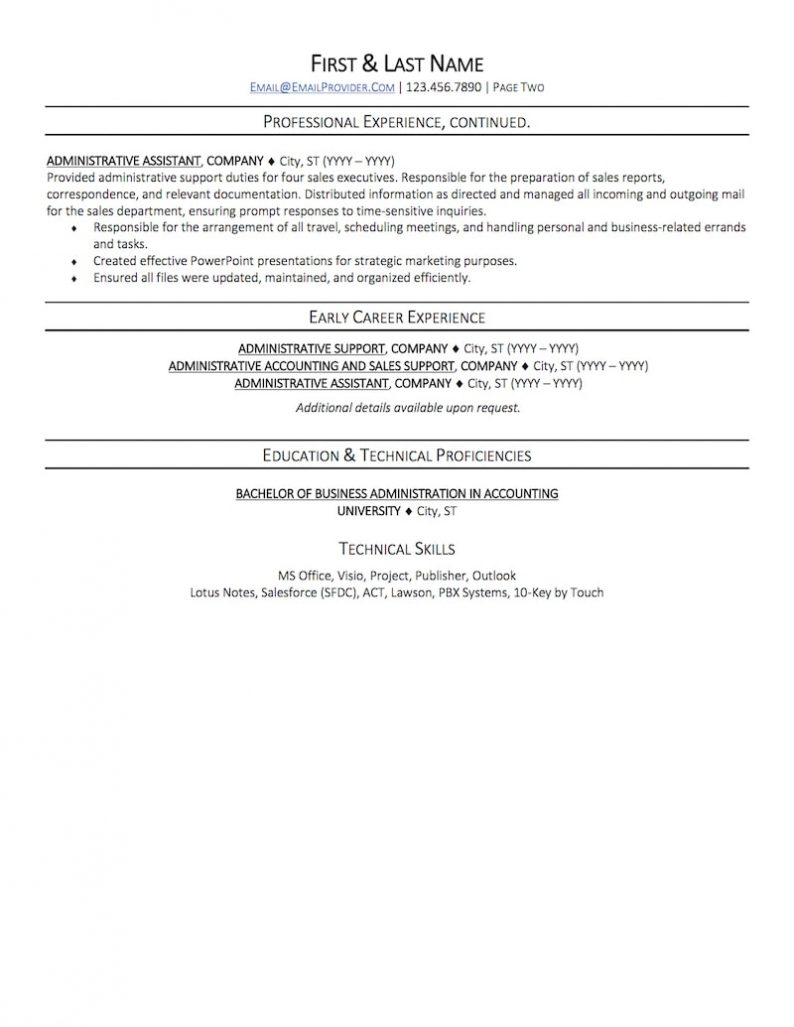 Office Administrative Assistant Resume Sample | Professional