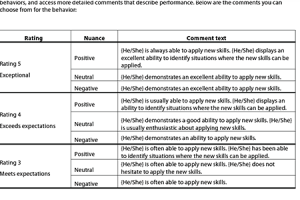 performance review examples sample employee review