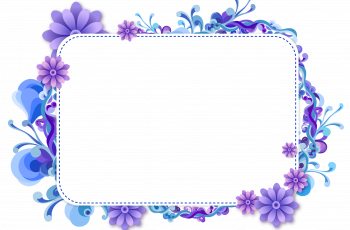 photo frame blue and purple vector frame