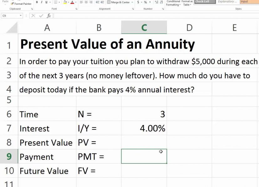 Terrific Present Value Of Annuity Table Decor Or Other Fireplace