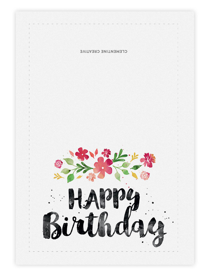 printable birthday cards printable birthday card spring blossoms