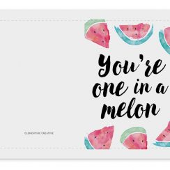 printable birthday card printable one in a melon birthday card x@x