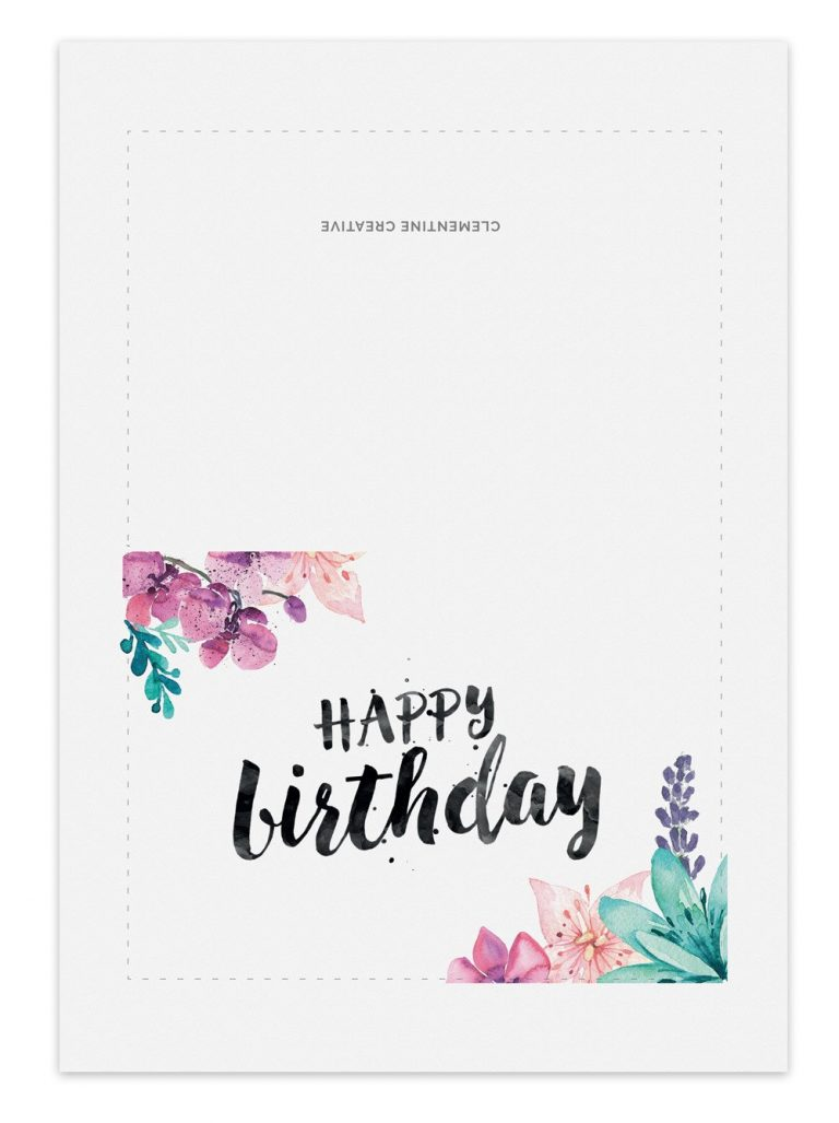 Printable Birthday Card for Her – Clementine Creative
