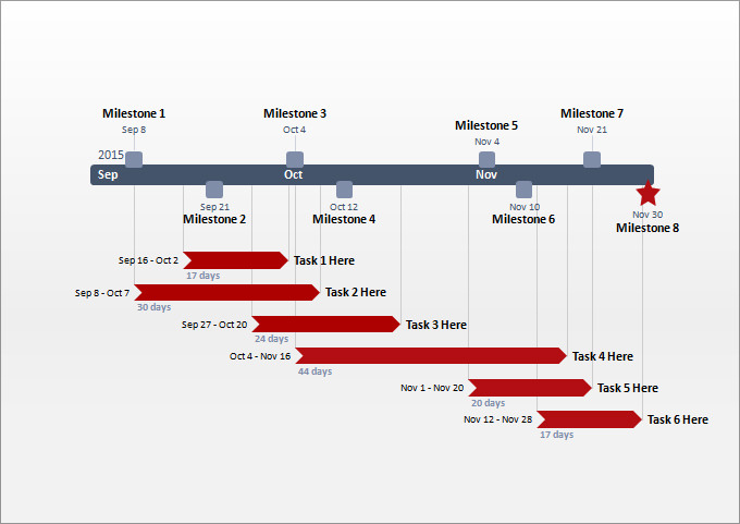 Project Milestone Template Ppt Project Timeline Templates 21 Free