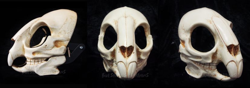 Rodent/Rabbit Skull Mask painted by Bueshang on DeviantArt