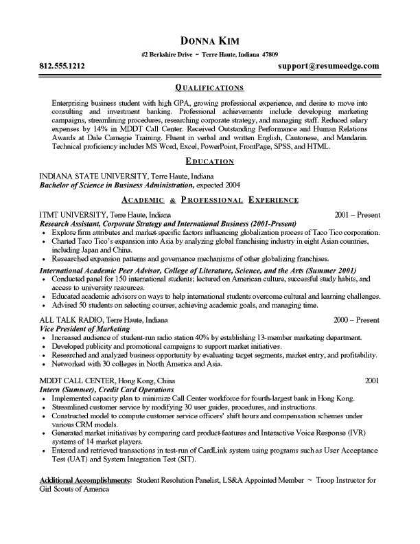 Resume Summary Examples Entry Level – Sonicajuegos.com