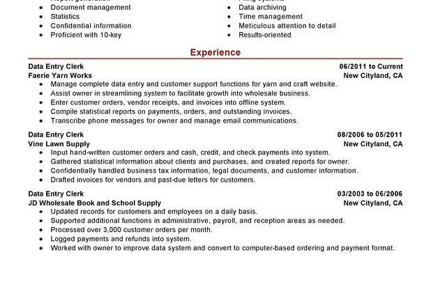 Resume Summary Examples Entry Level Templates Action Verbs 16471