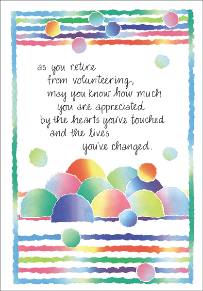 Retirement Volunteer Cards|Volunteer Cards and More