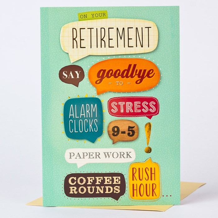 Retirement Card Enjoy Yourself | Only £1.49