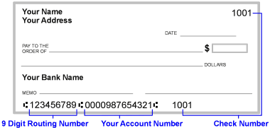 Checking Account and Routing Number | Blakes SL