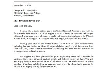 sample invitation letter for us visa sample invitation letter to visitor visa