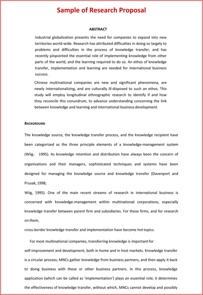 sample research proposal template research proposal template 3