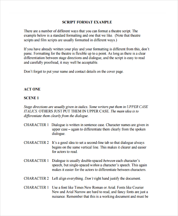 6+ Script Writing Examples, Samples