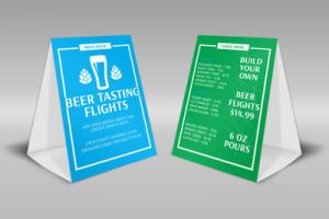 table tent template beer tasting flights table tent template thumb