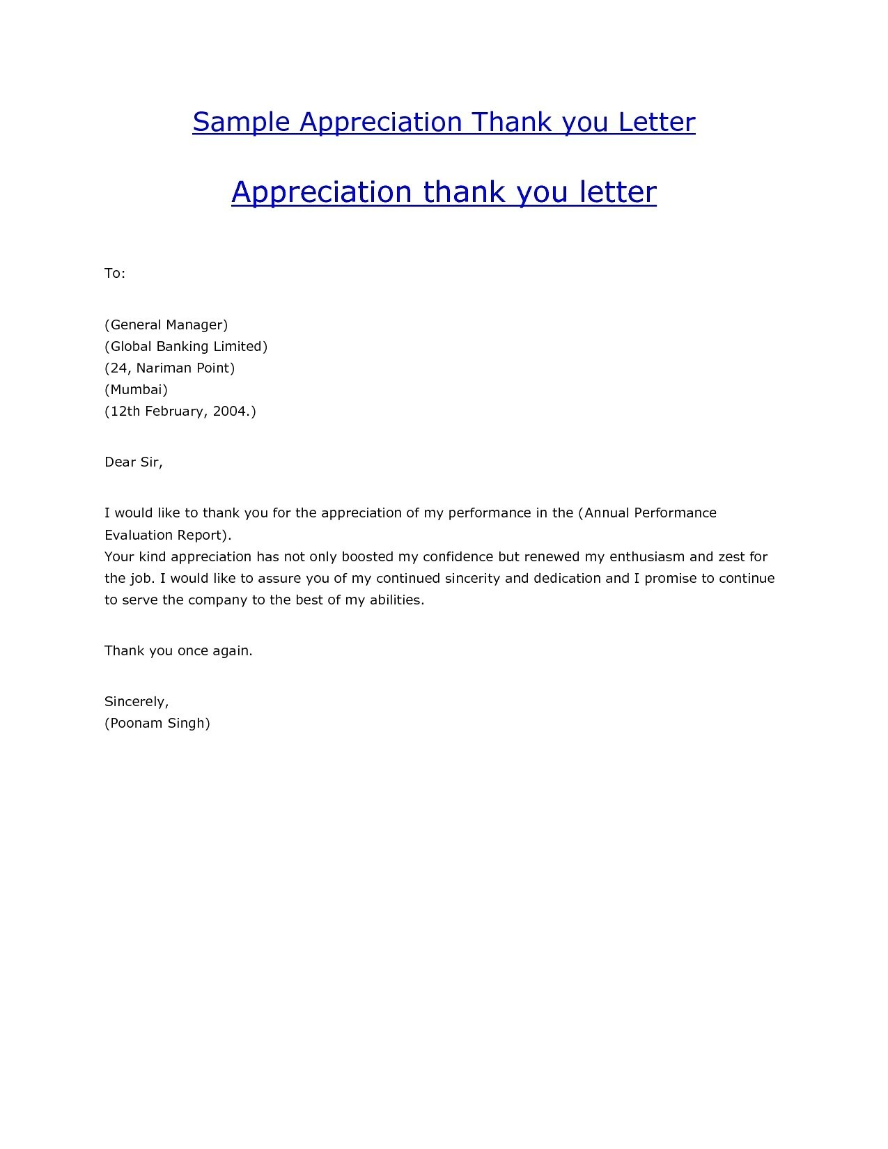 Thank You Letter Format Professional Fresh Professional Thank You
