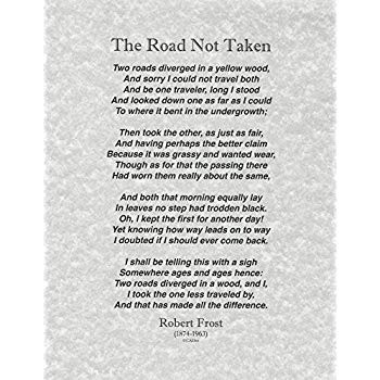 Amazon.com: Words of Wisdom by Robert Frost The Road Not Taken