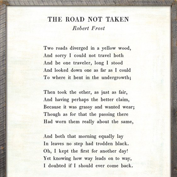 Sugarboo Designs The Road Not Taken Poetry Collection Sign