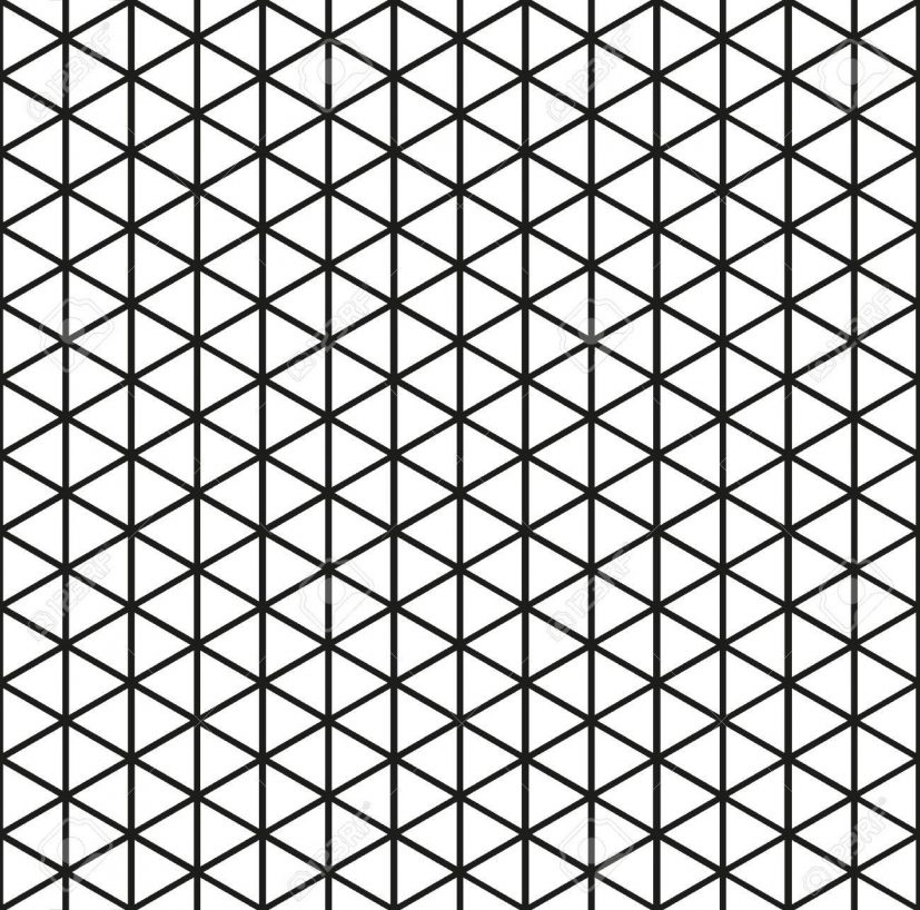 Seamless Triangle Pattern Background In Black Royalty Free