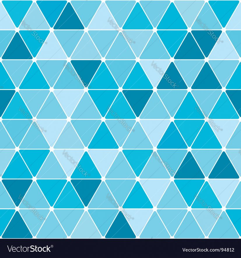 Winter triangle pattern background Royalty Free Vector Image