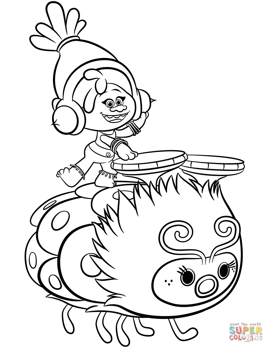 DreamWorks Trolls Coloring Pages GetColoringPages.com