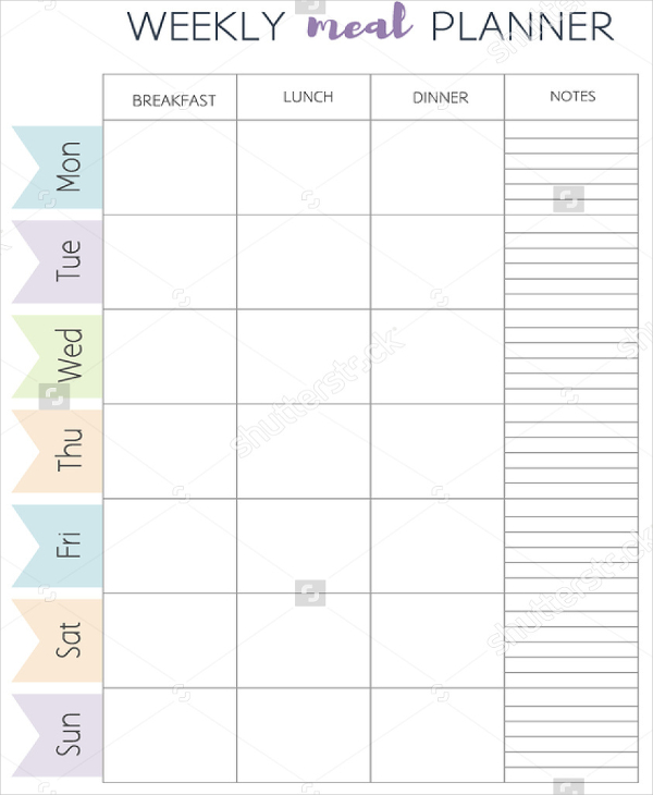 printable meal planner template Gecce.tackletarts.co