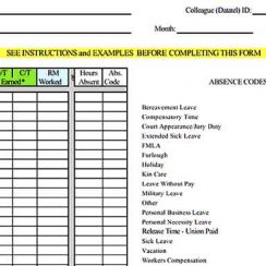 Sample College Attendance Inventory Report s Sample