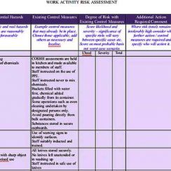 Work Activity Inventory Sheet Word s Sample